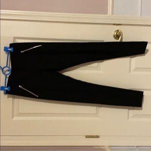 Black pants with zipper pockets